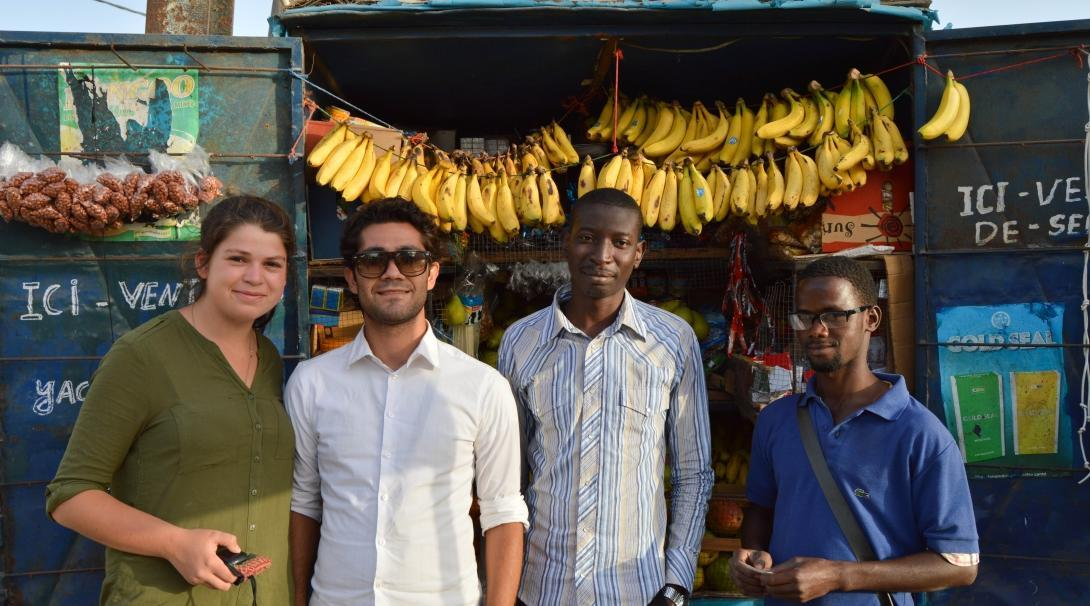 Voluntourists visit the small business they helped a local man build with the support of Projects Abroad.